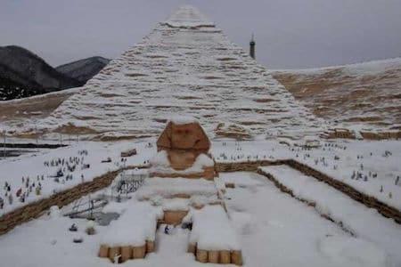 Egipto bajo la nieve