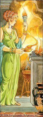 La diosa Vesta y el fuego del hogar