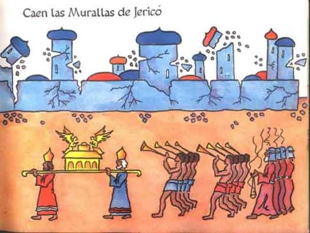 la caida de los muros de Jerico