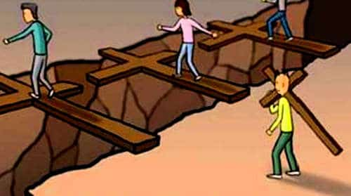 Viaje multidimensional para cargar la propia cruz