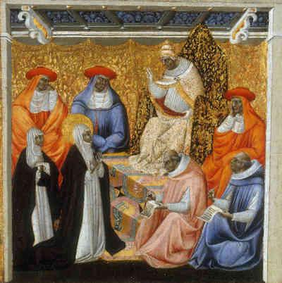 Catalina de Siena y su vision de la Luz de Dios